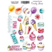 "Набор наклеек (стикеров) #018, ""Candy shop"""