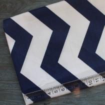 """Ткань """"Зигзаг темно синий + белый"""", 40х50 см., 100% хлопок"""
