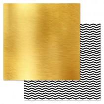 "Бумага ""Фономикс. Сканди. Золото"" (ScrapMania). размер  30,5х30,5 см, пл.180 гр/м2"