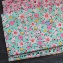 """Ткань """"Цветы на мятном"""", 40х50 см., 100% хлопок"""