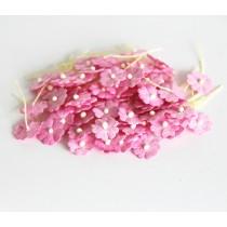 Цветочки маленькие 1 см - розовые 120 1 шт