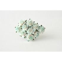 Mini розы 1 см - Св.голубой+белый 561, 1 шт.