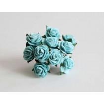 Mini розы 1,5 см - Бирюзовые 167 1 шт