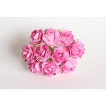 Кудрявые розы 2 см - Розовые, 1 шт.