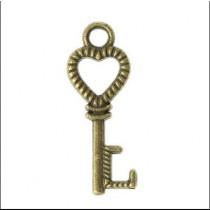 """Декор для творчества """"Ключ к сердцу"""" цвет латунь"""