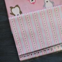 """Ткань """"Строчка на розовом"""", 50х52 см., 100% хлопок"""