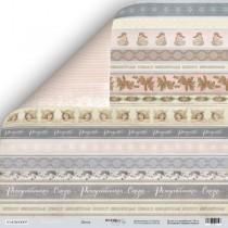Лист двусторонней бумаги 30x30 от Scrapmir Декор из коллекции Shabby Winter