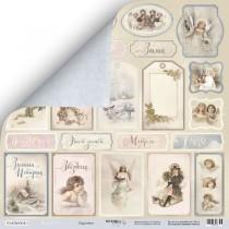 Лист двусторонней бумаги 30x30 от Scrapmir Карточки из коллекции Shabby Winter