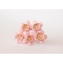 Цветы вишни - Розовоперсиковые светлые 124, 1 шт