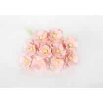 Цветы вишни средние - Розовоперсиковые светлые 124, 1 шт