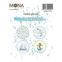 """Набор фишек """"Sea Party""""  в наборе 4 фишки, диаметр каждой 2,5 см, арт. 3914"""