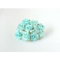 Кудрявые розы 3 см - Бирюзовые 1 шт