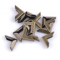 Уголок металлический плоский, цвет бронза, 16х16 мм., 1 шт.