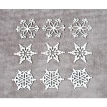 Набор снежинки №6 (9 элементов, размер снежинки 2,5 см), CB404