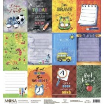 "Лист Карточки - коллекция ""School"" размер 30,5х30,5см., пл.190 г/м2"