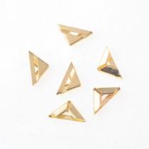 Уголок металлический с прорезью - золото 16х16 мм., 1 шт.