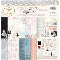 """Набор бумаги """"Just  married"""" 30.5 на 30.5, 8 двусторонних листов + лист бонус (оборот обложки), 190 г/м."""
