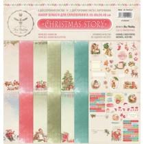 Набор бумаги CHRISTMAS STORY 30.5 на 30.5, 8 двусторонних листов, 190 г/м.