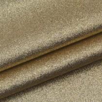 Отрез кожзама с глиттером 50х34 см., светлое золото