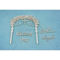 Свадебная арка 1, размеры арки 10,5*12см, длина надписей примерно 5,5 см