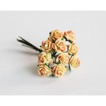 Mini розы 1,5 см -  Желто-оранжевые  305 1 шт