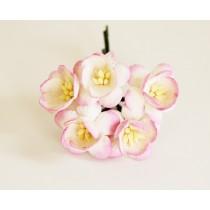 Цветы вишни - Белый+розовый 518 1 шт