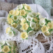 Цветы из ткани 10 шт., размер 1,5 см