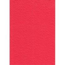 """Бумага с рельефным рисунком """"Дамасский узор"""" Цвет: Красный БР003-10"""