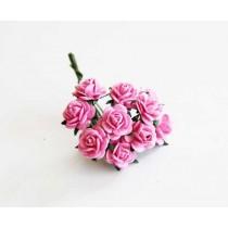 Mini розы 1 см - Розовые 120 1 шт