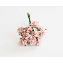 Mini розы 1 см - Розовоперсиковые 123 1 шт