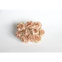 Кудрявые розы 2 см - Бежевые 1 шт