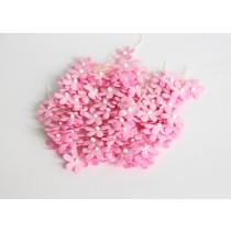 Цветочки маленькие 2 см - Розовые 120 1 шт