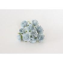 Кудрявые розы 2 см - Голубые 1 шт