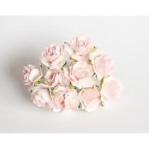 Кудрявые розы 2 см - Розовоперсиковые светлые