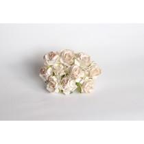 Кудрявые розы 3 см - Св.бежевые 1 шт