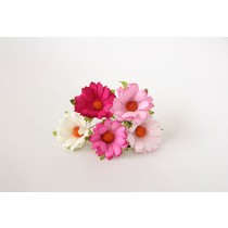 Ромашки Розовый микс 4 см 5 шт