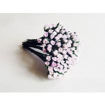 Микро бутоны Розовый+белый 518 1 шт