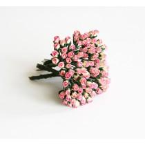 Микро бутоны Розовый+желтый 526 1 шт
