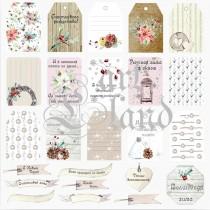 """Лист с карточками для вырезания Art land """"Magic Winter"""" 30х30, пл.200 г/м"""