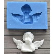 """Молд """"Мечтательный ангел 1"""", Размер 5,0х3,1 см"""