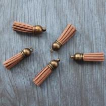 Кисточка из искуственной замши, 38 мм, цвет коричневый