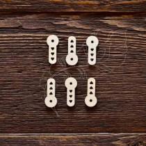 Набор анкеров с сердечками 6шт (2,5х1 см), CB493