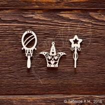 Набор принцессы (мал.элемент 1,5х4см;бол.1,8х4,5см), CB608