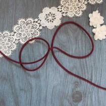 Резинка шляпная цв бордовый темный 3мм