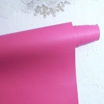 Отрез кожзама на тонкой тканевой основе 50х34 см., ярко-розовый