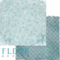 """Лист бумаги для скрапбукинга """"Метель"""", коллекция """"Зимние узоры"""", 30х30, плотность 190 гр, FD1004803"""