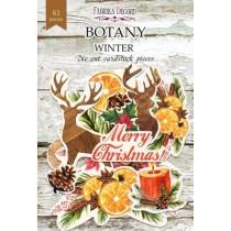 """Набор высечек, коллекция """"Botany winter"""", 61шт, плотность 250 г/кв.м"""