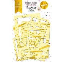 """Набор рамок с фольгированием №1 """"Yellow"""" 39шт"""