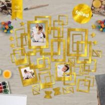 """Набор рамок с фольгированием №1 """"Gold"""" 39шт"""
