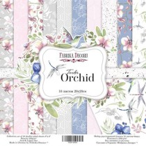 """Набор двусторонней скрапбумаги """"Tender orchid"""" 10 листов + лист для вырезания, 20x20см, пл.200г/м2"""